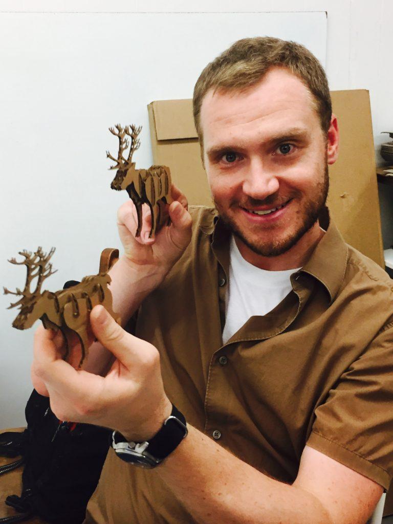 Joe and reindeer