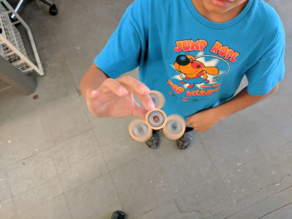 Young Makers Club spinners